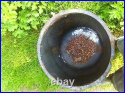 Vintage cast iron copper kettle couldron wash pot architectural salvage planter