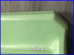 Vtg Deco 62 Cast Iron Jadeite Green Porcelain Kitchen Farm Sink Legs 335-19E