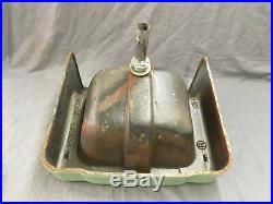 Vtg Jade Green Porcelain Cast Iron Shelf Back Sink Old Bath Salavge 754-17E