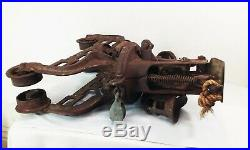 Vtg antique Fe myers cast iron hay trolley carrier unloader barn pulley tool