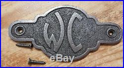 WC Toilet Bathroom Cast Iron Vintage Style Oval Plaque Door / Shed Sign