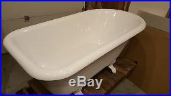 White recor cast iron claw foot tub very good condition