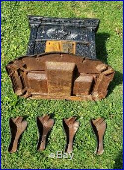 Wonderful Ornate Antique Victorian Cast Iron Peruvian Parlor Stove Wood Stove