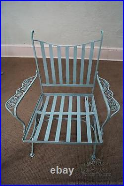 Woodard Andalusian Vintage Iron Sofa, Chairs, Tables Patio Set