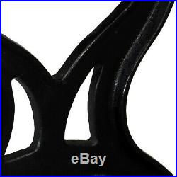 X Frame Bench Legs Cast Iron Spare Table Parts Accessories Black 2 Pieces